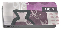 Hope- Contemporary Art Portable Battery Charger by Linda Woods