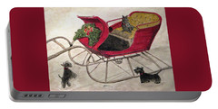 Hoping For A Sleigh Ride Portable Battery Charger by Angela Davies
