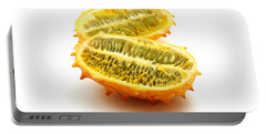Portable Battery Charger featuring the photograph Horned Melon by Fabrizio Troiani