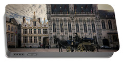 Horse And Carriage Portable Battery Charger by Joan Carroll