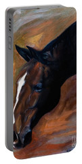 horse - Apple copper Portable Battery Charger by Go Van Kampen