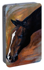 Portable Battery Charger featuring the painting horse - Apple copper by Go Van Kampen