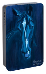 Portable Battery Charger featuring the painting horse - Apple indigo by Go Van Kampen