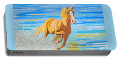 Portable Battery Charger featuring the painting Horse Bright by Phyllis Kaltenbach