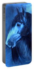 Horse - Carol In Indigo Portable Battery Charger