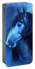 Horse - Carol In Indigo Portable Battery Charger by Go Van Kampen