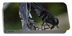 Portable Battery Charger featuring the photograph Horse Fly by DigiArt Diaries by Vicky B Fuller