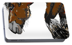 Portable Battery Charger featuring the painting horse - Guus by Go Van Kampen