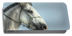 Portable Battery Charger featuring the photograph Horse Head-shot by Eti Reid