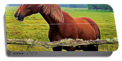 Horse In The Pasture Portable Battery Charger