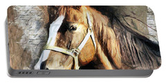 Horse Portrait - Drawing Portable Battery Charger