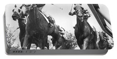 Horse Racing At Aqueduct Track Portable Battery Charger