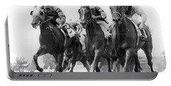 Horse Racing At Monmouth Park Portable Battery Charger