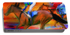 Horse Racing II Portable Battery Charger