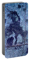 Horse Smashing Evil On Skid Row Portable Battery Charger