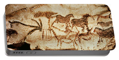 Horses And Deer From The Caves At Altamira, 15000 Bc Cave Painting Portable Battery Charger