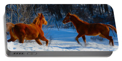 Horses At Play Portable Battery Charger