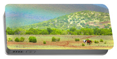 Horses At The End Of The Rainbow Portable Battery Charger