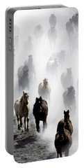 Horses Galloping Portable Battery Charger