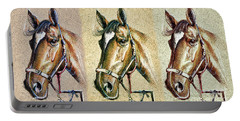 Horses Hand Drawing Portable Battery Charger