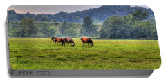Horses In A Field 2 Portable Battery Charger