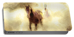 Horses Of The Mist Portable Battery Charger by Greg Collins
