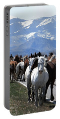 Horses On Road Portable Battery Charger
