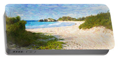 Horseshoe Bay In Bermuda Portable Battery Charger by Verena Matthew
