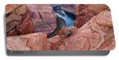 Portable Battery Charger featuring the photograph Horseshoe Bend At Dawn by Mae Wertz