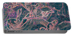 Portable Battery Charger featuring the digital art Host Of Angels Pink by First Star Art