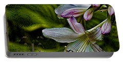 Hosta Lilies With Texture Portable Battery Charger
