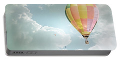 Hot Air Balloon Enchanted Clouds Portable Battery Charger by Andrea Hazel Ihlefeld
