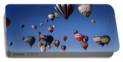 Hot Air Balloons Floating In Sky Portable Battery Charger