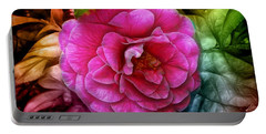 Hot And Silky Pink Rose Portable Battery Charger