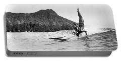 Hot Dog Surfers At Waikiki Portable Battery Charger