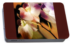 Portable Battery Charger featuring the photograph Hot Orchid Nights by Holly Kempe