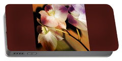 Hot Orchid Nights Portable Battery Charger by Holly Kempe