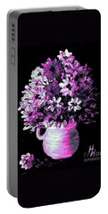 Hot Pink Flowers Portable Battery Charger