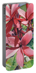 Hot Pink Plumeria Portable Battery Charger