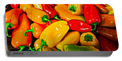 Hot Red Peppers Portable Battery Charger