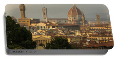 Hot Summer Afternoon In Florence Italy Portable Battery Charger by Georgia Mizuleva