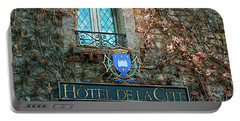 Hotel De La Cite Portable Battery Charger by France  Art