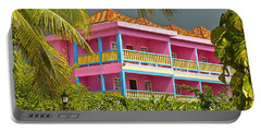 Hotel Jamaica Portable Battery Charger by Linda Bianic