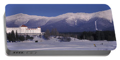 Hotel Near Snow Covered Mountains, Mt Portable Battery Charger