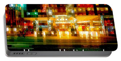 Hotel - The Lights Of New York - Happy Holidays - Holiday And Christmas Card Portable Battery Charger