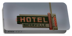 Hotel Waterville Neon Sign Portable Battery Charger