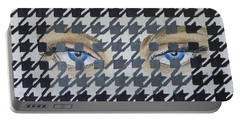 Houndstooth Eyes Portable Battery Charger