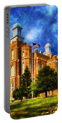 Portable Battery Charger featuring the digital art House Of Learning by Greg Collins