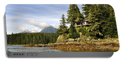 Portable Battery Charger featuring the photograph House Upon A Rock by Cathy Mahnke