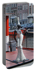 Portable Battery Charger featuring the photograph Houseboat Chanteuse by Allen Beatty